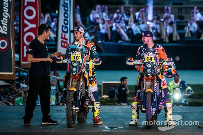 #16 Red Bull KTM Factory Racing: Matthias Walkner and #14 Red Bull KTM Factory Racing: Sam Sunderlan