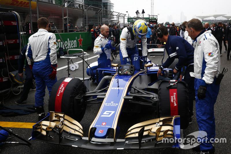 Startaufstellung: Marcus Ericsson, Sauber