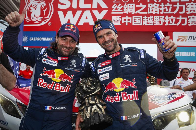 Ganadores Cyril Despres, David Castera, Peugeot Sport