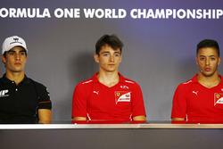 Polesitter Charles Leclerc, PREMA Powerteam, second place Sergio Sette Camara, MP Motorsport, third place Antonio Fuoco, PREMA Powerteam