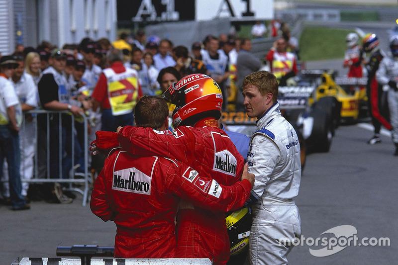 Rubens Barrichello, Ferrari, Michael Schumacher, Ferrari, Ralf Schumacher, Williams