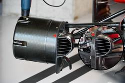 Conducto de freno delantero y eje del Ferrari SF70-H