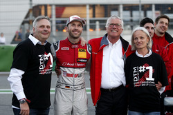 Champion René Rast, Audi Sport Team Rosberg, Audi RS 5 DTM with his fahter and Arno Zensen, Audi Spo