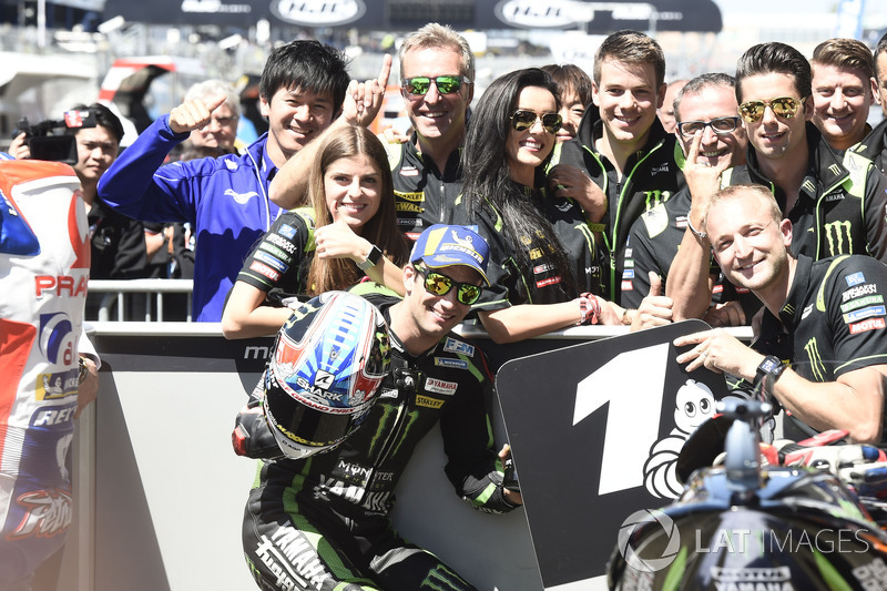 Ganador de la pole Johann Zarco, Monster Yamaha Tech 3