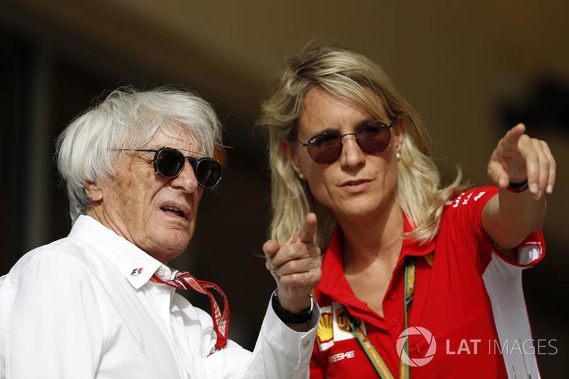 Bernie Ecclestone, and Britta Roeske