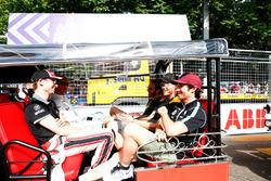 Stephane Sarrazin, MS + AD Andretti Formula E, Maro Engel, Venturi Formula E Team, Nicolas Prost, Renault e.Dams, Andre Lotterer, Techeetah, Jean-Eric Vergne, Techeetah, on the drivers parade