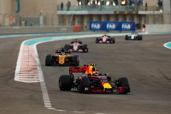 Max Verstappen, Red Bull Racing RB13, Nico Hulkenberg, Renault Sport F1 Team RS17, Esteban Ocon, Sahara Force India F1 VJM10