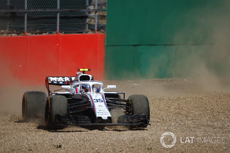 Sergey Sirotkin, Williams FW41, testacoda