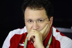 Nicholas Tombazis, Ferrari Chief Designer in the Press Conference