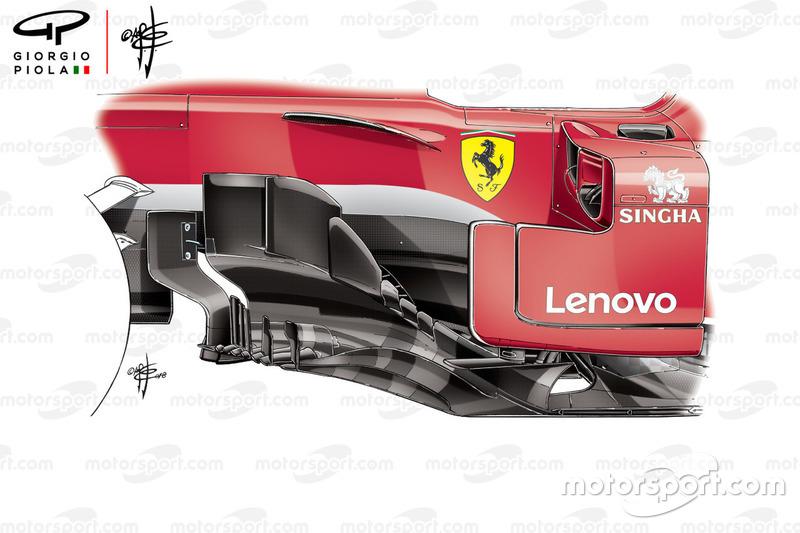 Ferrari SF71H bargeboard, GP van Canada