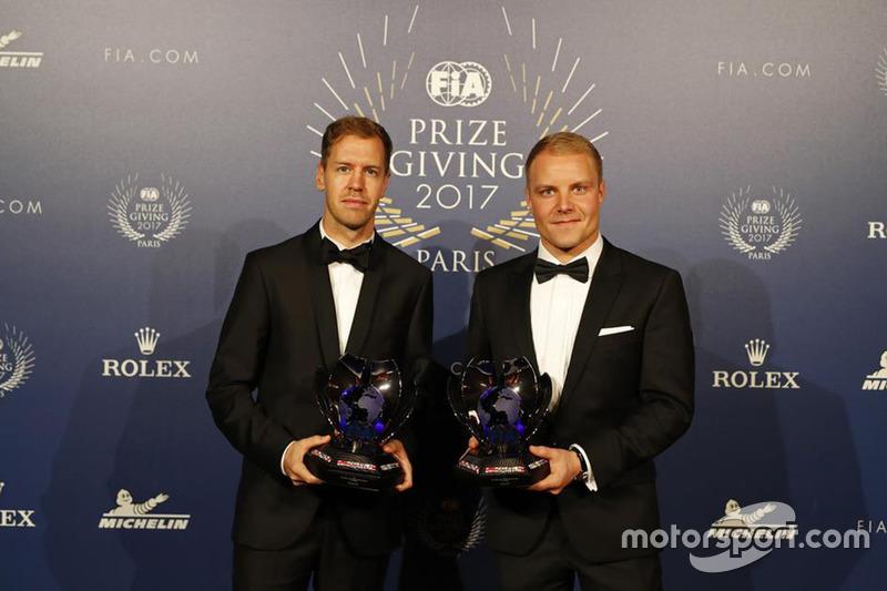 Sebastian Vettel y Valterri Bottas