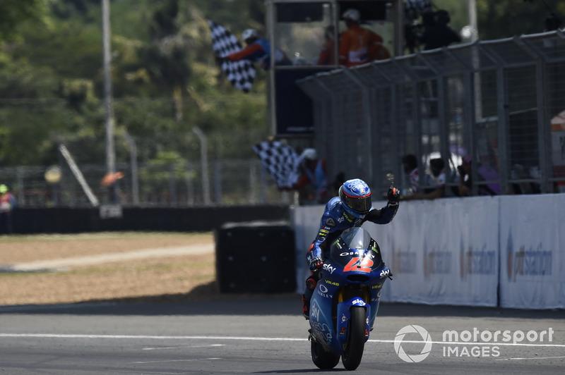 Moto2 Thailand: Kualifikasi 6, finis 1