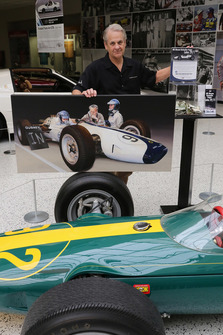 Gary Dausch with the Lotus 29 at IMS Museum