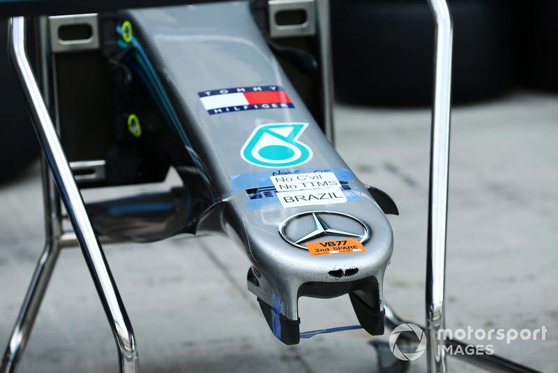 Mercedes-AMG F1 W09, dettaglio del muso