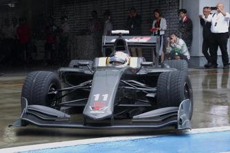 富士スピードウェイを初走行したスーパーフォーミュラの次期マシンSF19
