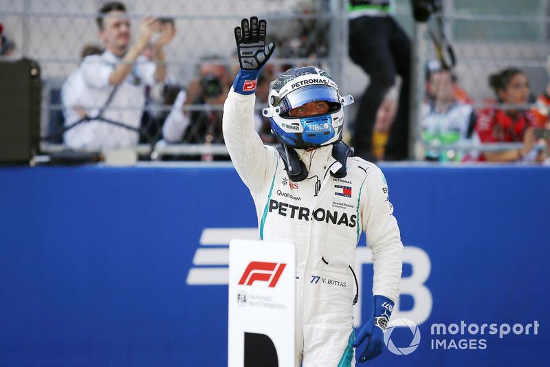 Polesitter Valtteri Bottas, Mercedes AMG F1 W09