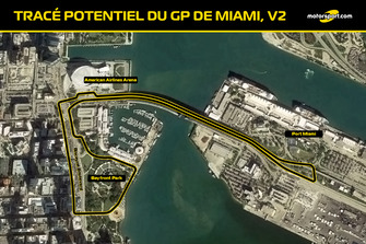 Tracé probable du GP de Miami V2
