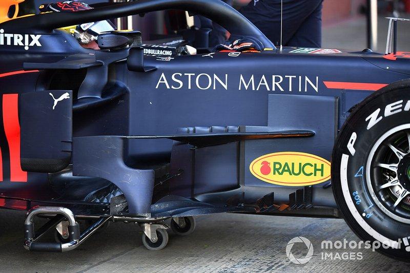 Les déflecteurs de la Red Bull Racing RB15