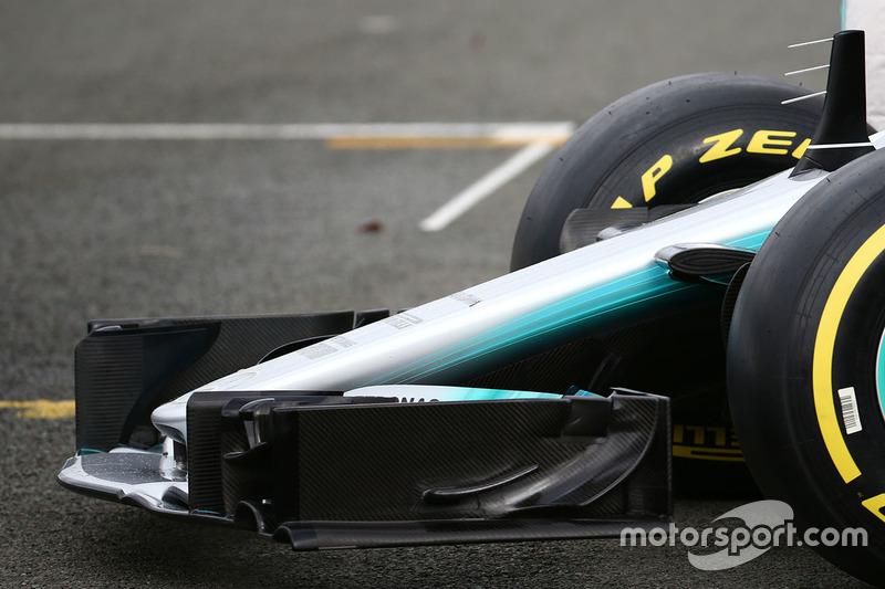 Mercedes AMG F1 W08: Frontflügel