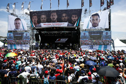Fans take in the F1 stage