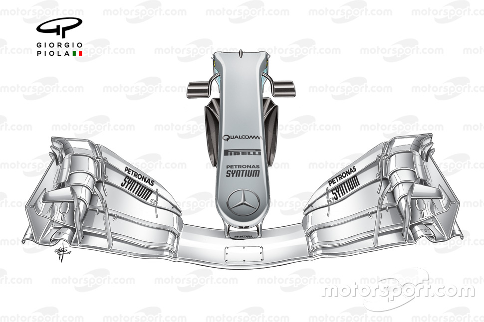 Mercedes W08 narrow nose, Spanish GP