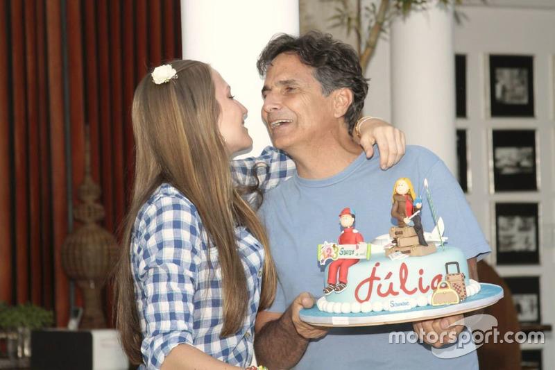 Julia Piquet e Nelson Piquet