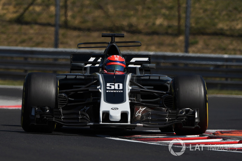 Santino Ferrucci, Haas F1 Team VF-17 se trompea