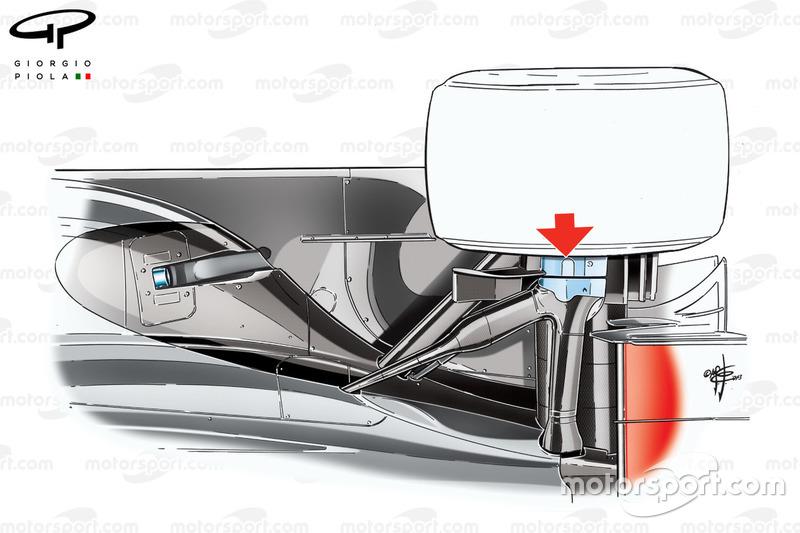 Suspension arrière de la McLaren MP4-28