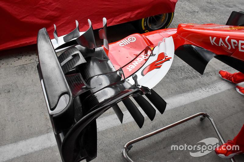 Ala delantera del Ferrari SF70H
