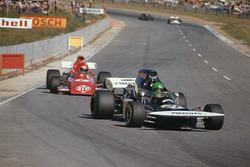 Henri Pescarolo, March 721 Ford leads Niki Lauda, March 721 Ford
