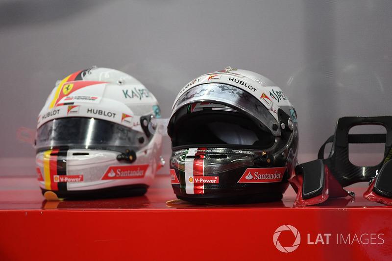 Sebastian Vettel, Ferrari helm dan peranti HANS