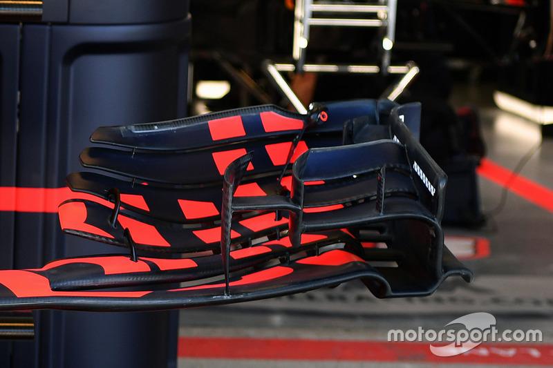 Detalle del alerón delantero del Red Bull Racing RB13