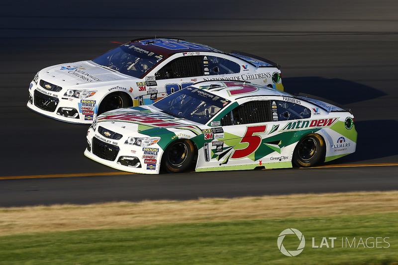 Kasey Kahne, Hendrick Motorsports Chevrolet, Dale Earnhardt Jr., Hendrick Motorsports Chevrolet