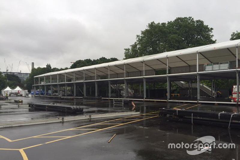 Konstruksi Sirkuit London ePrix