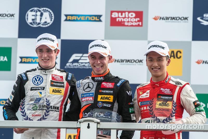 Podyum: Joel Eriksson, Motopark Dallara F312 - Volkswagen, Anthoine Hubert, Van Amersfoort Racing Da
