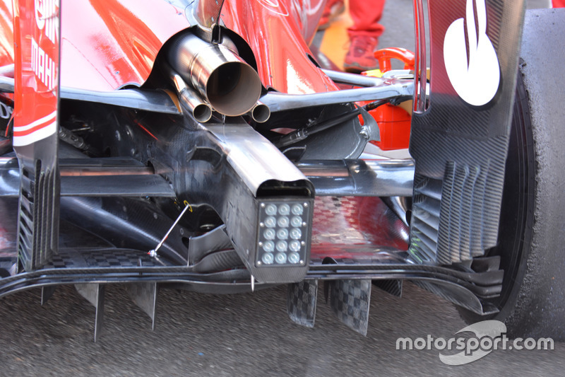 Ferrari SF16-H: Diffusor