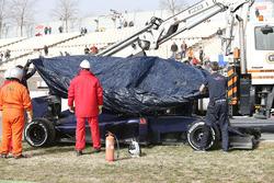 Max Verstappen, Scuderia Toro Rosso es regresado a pits en una grúa