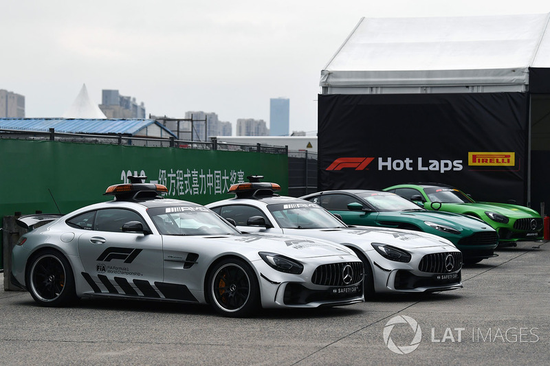 Safety car and Pirelli Hot Laps cars