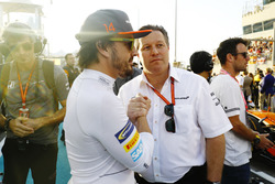 Fernando Alonso, McLaren, Zak Brown, Executive Director, McLaren Technology Group