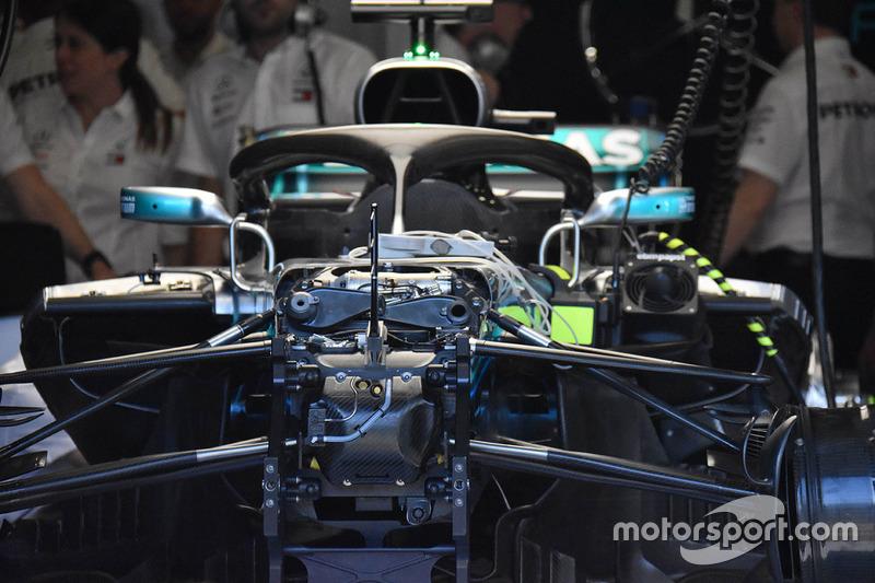 Mercedes-AMG F1 W09 ön süspansiyon detay