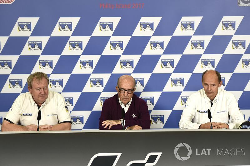 Pascal Couasnon, Michelin, Carmelo Carmelo Ezpeleta, CEO Dorna Sports, Nicolas Goubert, , Michelin