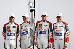 Victory lane, third place P: #54 CORE autosport ORECA LMP2: Jon Bennett, Colin Braun, Romain Dumas, Loic Duval