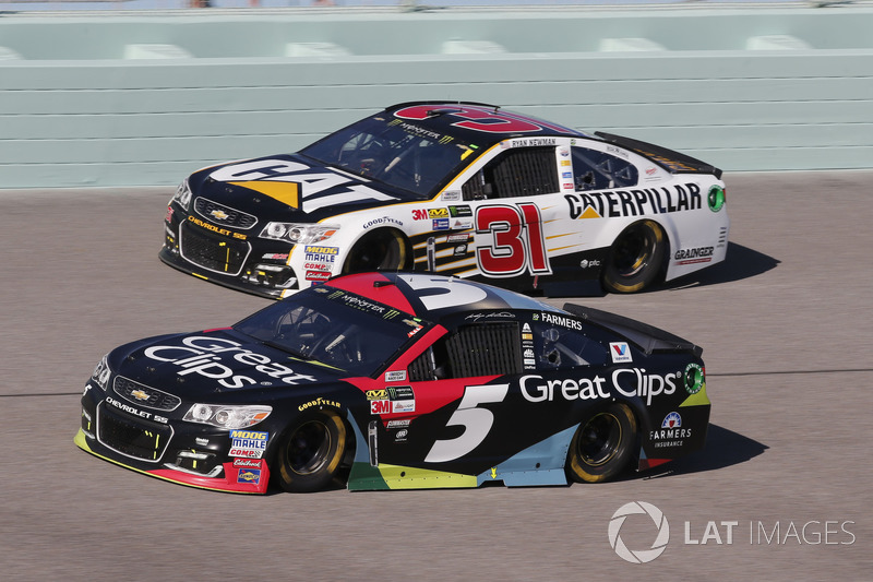 Kasey Kahne, Hendrick Motorsports Chevrolet Ryan Newman, Richard Childress Racing Chevrolet