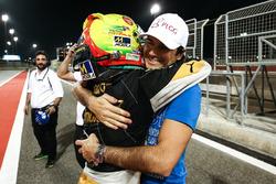 2017 champion Pietro Fittipaldi, Lotus, with Nelson Piquet Jr.
