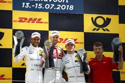 Podio: ganador de la carrera René Rast, Audi Sport Team Rosberg, segundo puesto Gary Paffett, Mercedes-AMG Team HWA, tercer puesto Paul Di Resta, Mercedes-AMG Team HWA