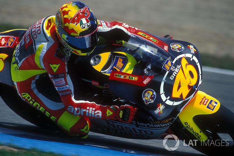 1999 - Nueve victorias en su última temporada sobre la Aprilia RS250