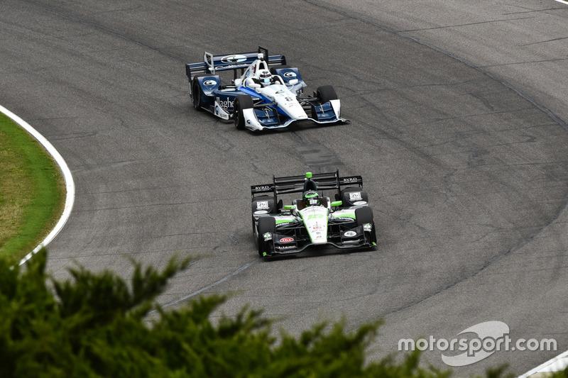 Conor Daly, Dale Coyne Racing Honda, Max Chilton, Chip Ganassi Racing Chevrolet
