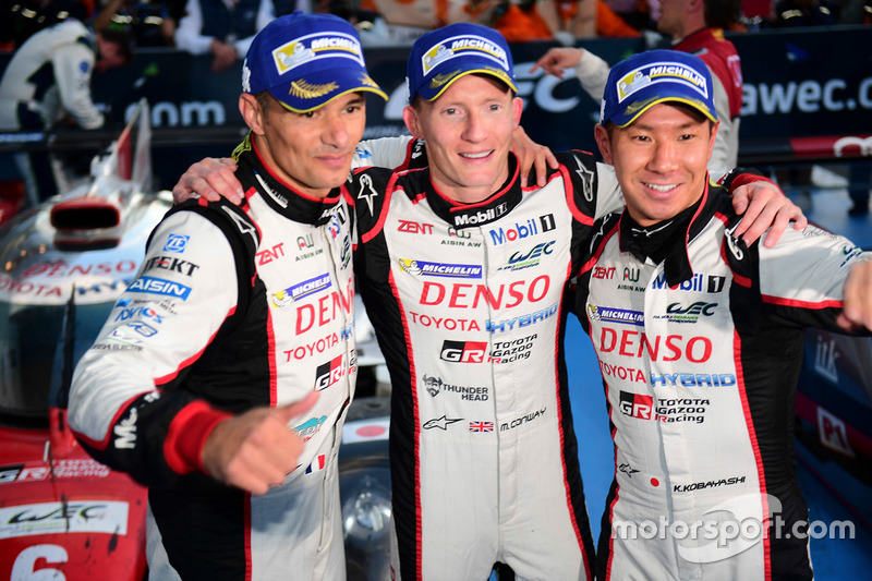 LMP1 Race winners #6 Toyota Racing Toyota TS050 Hybrid: Stéphane Sarrazin, Mike Conway, Kamui Kobaya