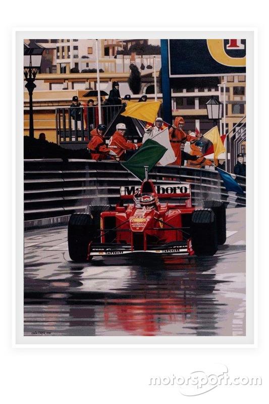 Affiche F1 - Michael Schumacher, prince de Monaco