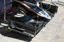 Sahara Force India F1 VJM09 voorvleugel detail